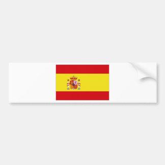 Spain National Flag simplified Bumper Sticker