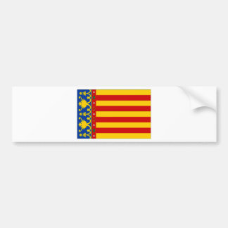 Spain Valencia Flag Bumper Sticker