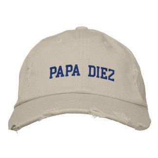 Spanish Best Dad Blue Embroidered Hat