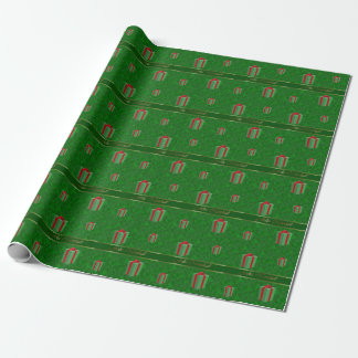 Spanish Christmas Gift Packages Green Wrap Paper Wrapping Paper