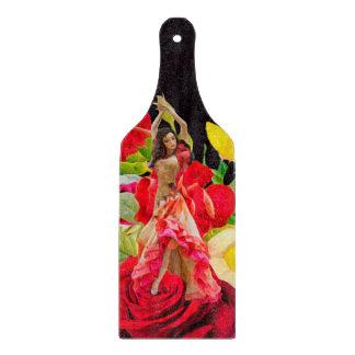 Spanish Dancer Roses Black Background Cutting Board