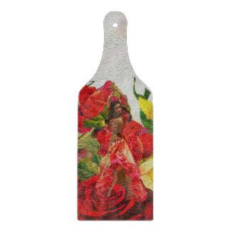 Spanish Dancer Roses Textured Cutting Board
