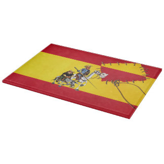 Spanish Flag - Don Quixote by @QUIXOTEdotTV Cutting Board
