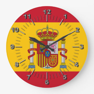 Spanish flag large clock