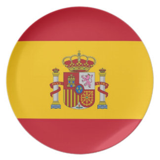 Spanish Flag Plate