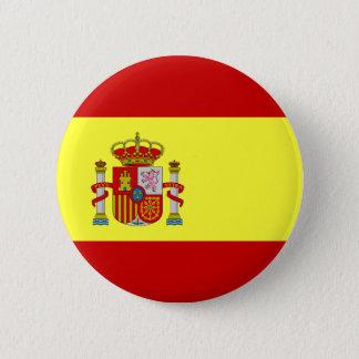 Spanish Flag (Rojigualda) Round Button Pin
