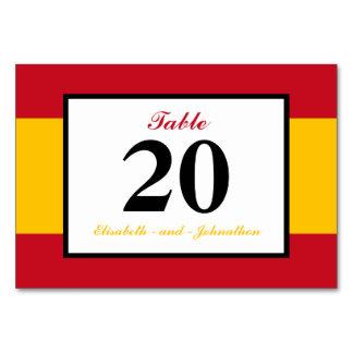 Spanish Flag Spain Wedding Table Cards