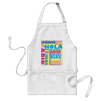 Spanish Greetings Standard Apron