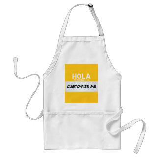 Spanish Hello My Name Is ... Customizable Standard Apron