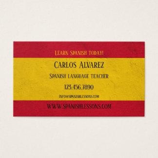 Spanish Language Teacher Business Card