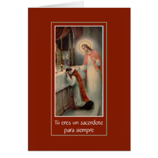 Spanish Priesthood Anniversary Card