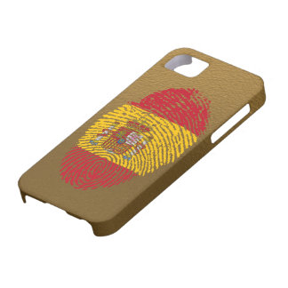 Spanish touch fingerprint flag iPhone 5 case
