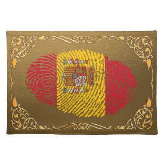 Spanish touch fingerprint flag placemat