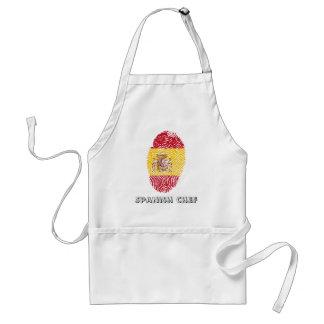 Spanish touch fingerprint flag standard apron