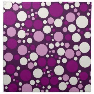 Spanish Violet & White Polka Dots Napkin