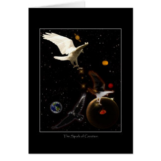 """""""Spark of Creation"""" White Raven Gifts Card"""