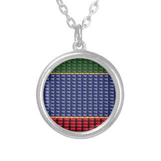 Sparkle Glitter Digital Blue Red Green Button GIFT Pendants