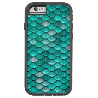 Sparkle Glitter Green Aqua Mermaid Scales Tough Xtreme iPhone 6 Case