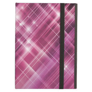 sparkle pink abstract plaid icase ipad case