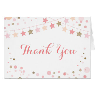 Sparkle Thank you Note Card