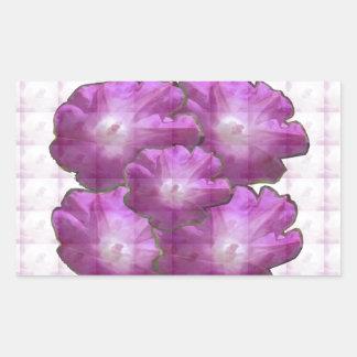 Sparkle White n Pink Flower Bouquet Gift Greetings Rectangular Sticker