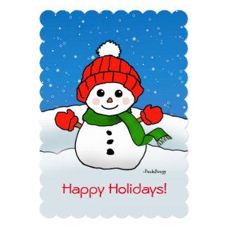 Sparkles the Snowman: Happy Holidays! Card