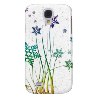 Sparkling Christmas Snowflake Stars Galaxy S4 Case