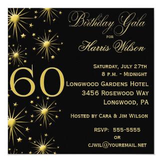 Sparkling Gala 60th Birthday Invitations