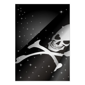 Sparkling Pirate Flag Poster