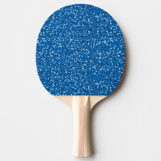 Sparkly Blue Glitter Ping Pong Paddle