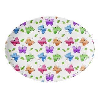 Sparkly Butterflies Porcelain Serving Platter