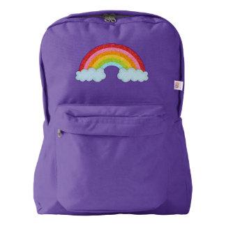Sparkly fabric rainbow backpack