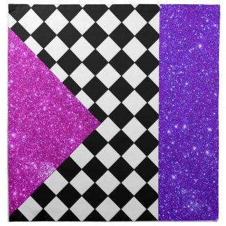 Sparkly Napkins Party Fun Tableware Checkerboard 9