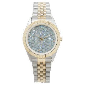 Sparkly Silver Slipper Glitzy Bling Watch