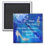 Sparkly Stiletto Heel Quinceañera Save The Date