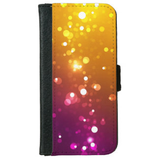 Sparks and Spectrum - Yellow / Purple, iPhone 6 Wallet Case