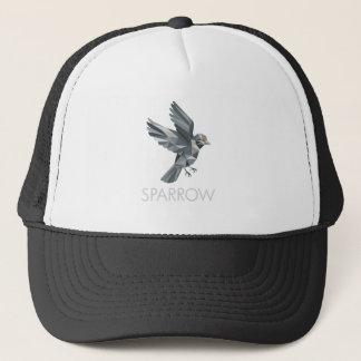 Sparrow Text Low Polygon Trucker Hat