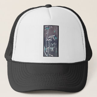 Sparrows and Camellias in the Snow circa 1830's Trucker Hat