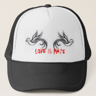 sparrows, LOVE & HATE Trucker Hat
