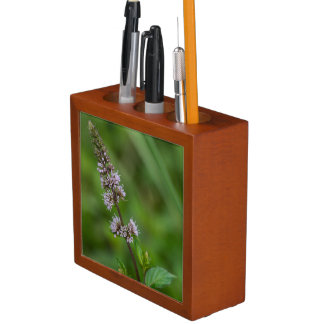 Spearmint Purple Wildflower Floral Desk Organizer