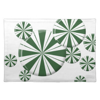 Spearmint Stripe Candy Placemat