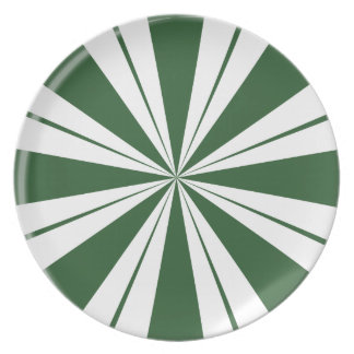 Spearmint Stripe Candy Plate