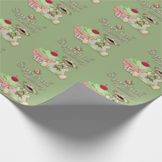 Special Delivery Cupcake Bear Wrapping Paper