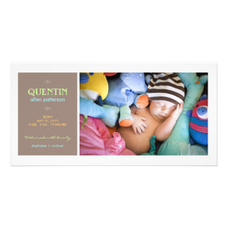 Special Moment Photo Baby Boy Birth Announcement Personalised Photo Card