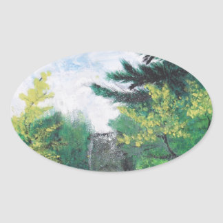 special nature oval sticker