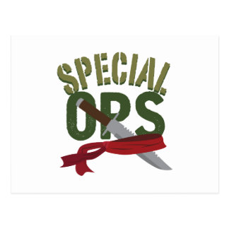 Special Ops Postcard