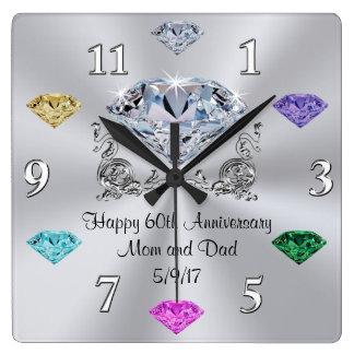 Special Order Birthstone 60th Anniversary Clocks
