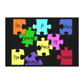 Special Piece Of The Autism Puzzle Premium Canvas