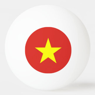 Special ping pong ball with Flag of Vietnam
