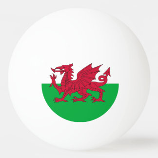 Special ping pong ball with Flag of Wales